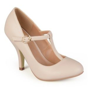 Journee Collection Nude Lisa T-Strap pump 9